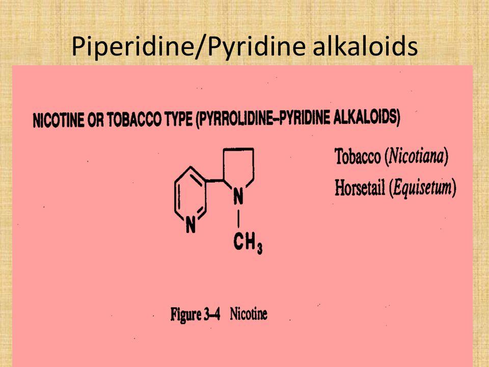 Piperidine/Pyridine alkaloids