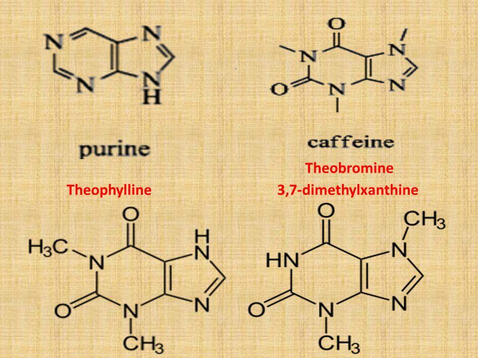 Theobromine Theophylline 3,7-dimethylxanthine