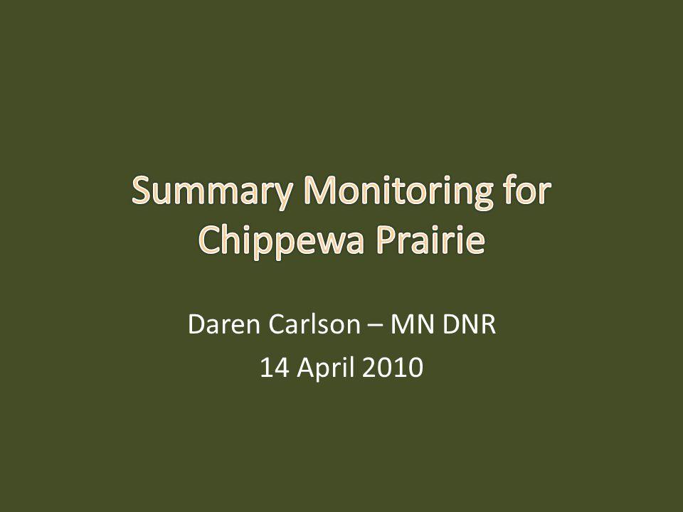 Daren Carlson – MN DNR 14 April 2010