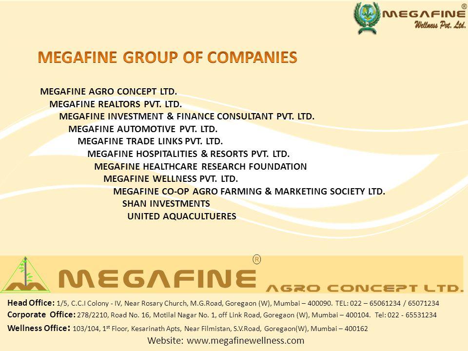 MEGAFINE AGRO CONCEPT LTD. MEGAFINE REALTORS PVT.