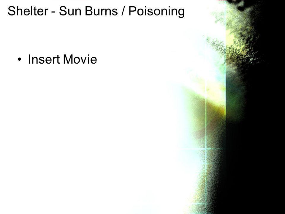 Shelter - Sun Burns / Poisoning Insert Movie