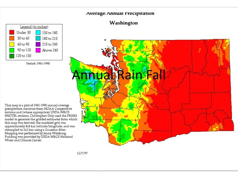 The Rainshadow Effect has a greater effect on Eastern Washington than Western Washington