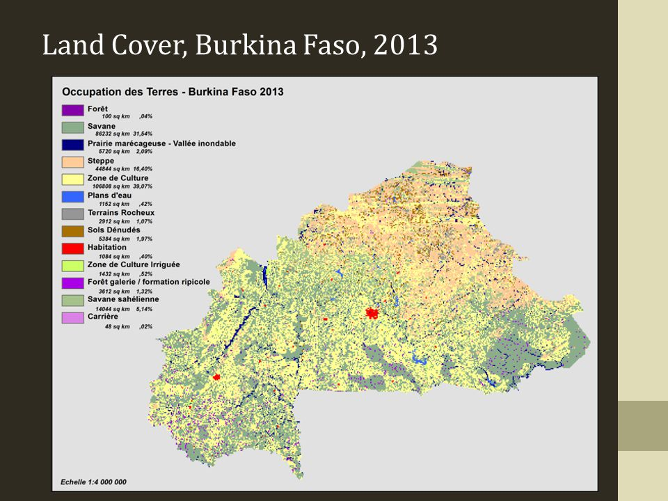 Land Cover, Burkina Faso, 2013