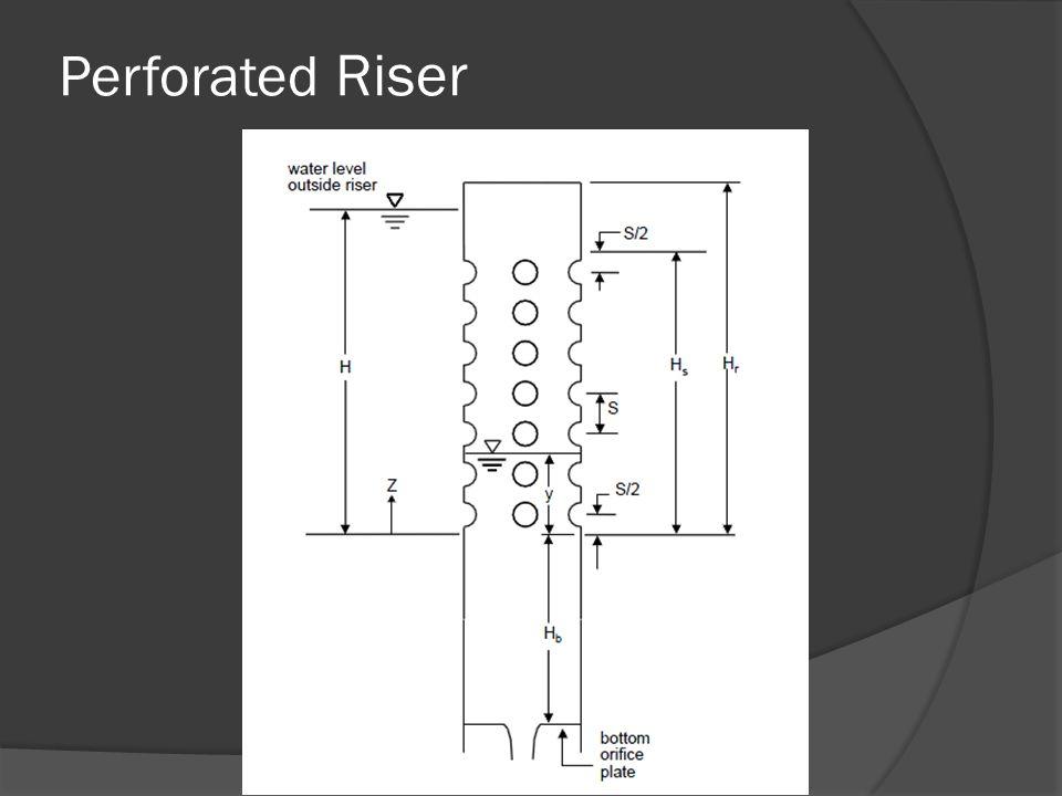Perforated Riser