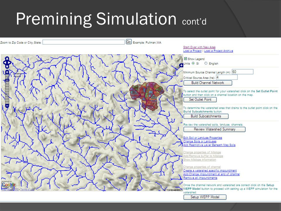 Premining Simulation cont'd