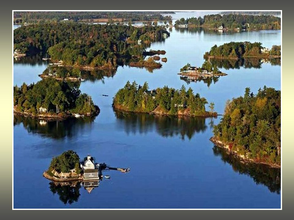 The Thousand Islands are a chain of islands that straddle the U.S-Canada border in the Saint Lawrence River as it emerges from the northeast corner of Lake Ontario.