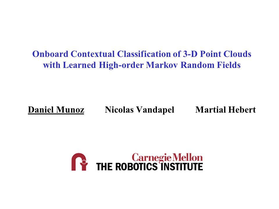Onboard Contextual Classification of 3-D Point Clouds with Learned High-order Markov Random Fields Daniel Munoz Nicolas Vandapel Martial Hebert