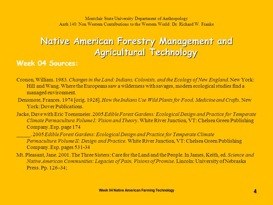 65 Montclair State University Department of Anthropology Anth 140: Non Western Contributions to the Western World Dr.