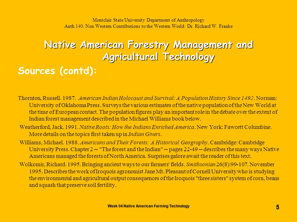 66 Montclair State University Department of Anthropology Anth 140: Non Western Contributions to the Western World Dr.