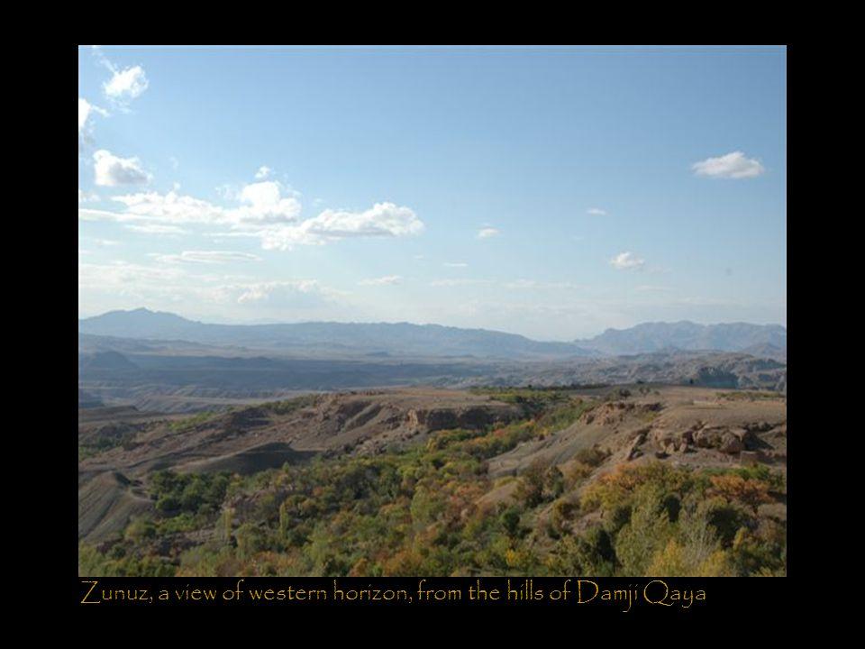 Zunuz, a view of western horizon, from the hills of Damji Qaya