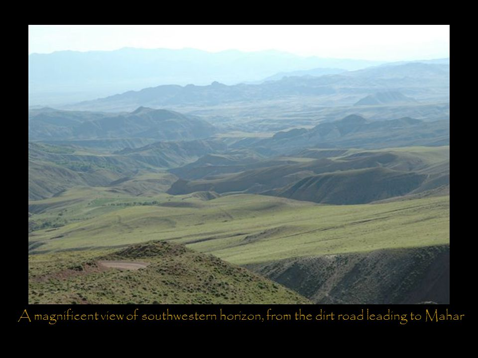 A magnificent view of southwestern horizon, from the dirt road leading to Mahar