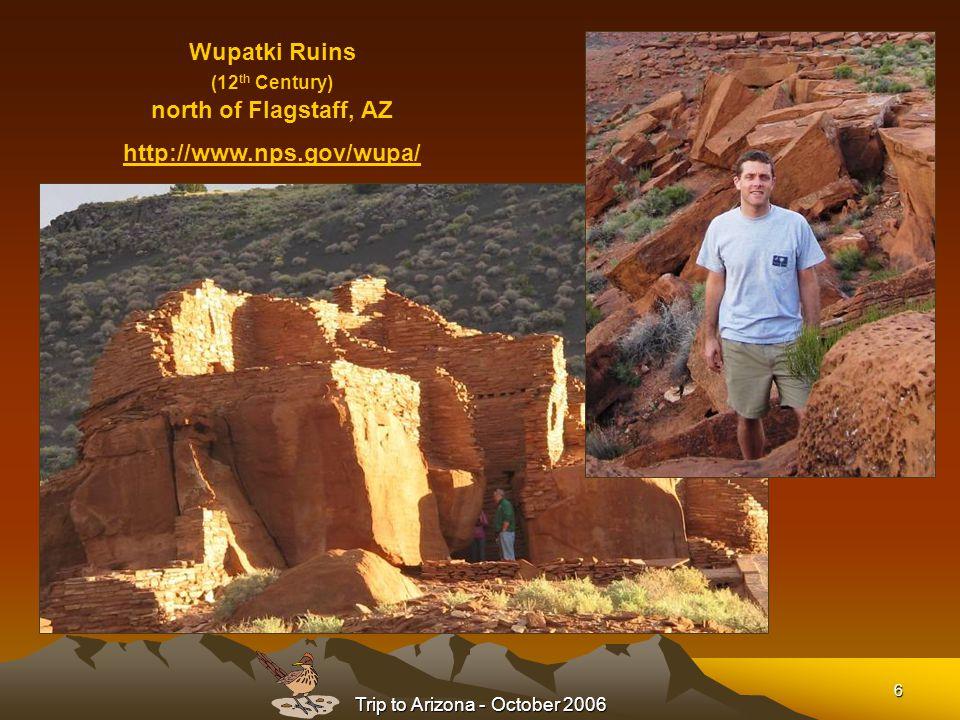 Trip to Arizona - October 2006 17 Learn more about Tuzigoot Ruins near Cottonwood, AZ Tuzigoot Ruins