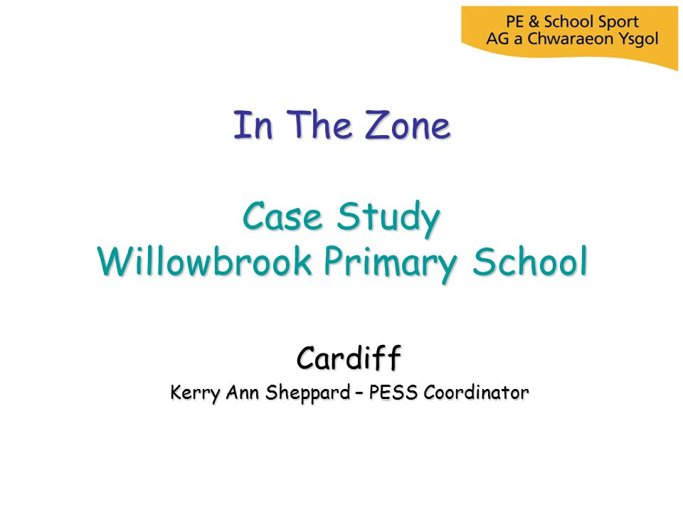 In The Zone Case Study Willowbrook Primary School Cardiff Kerry Ann Sheppard – PESS Coordinator