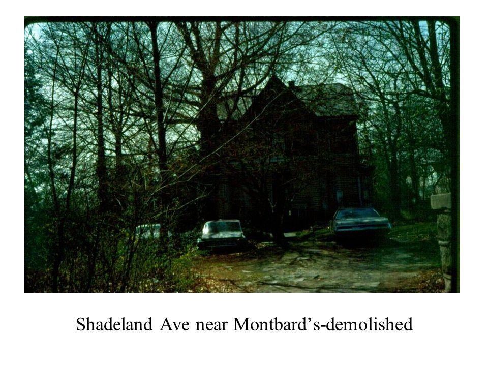 Shadeland Ave near Montbard's-demolished