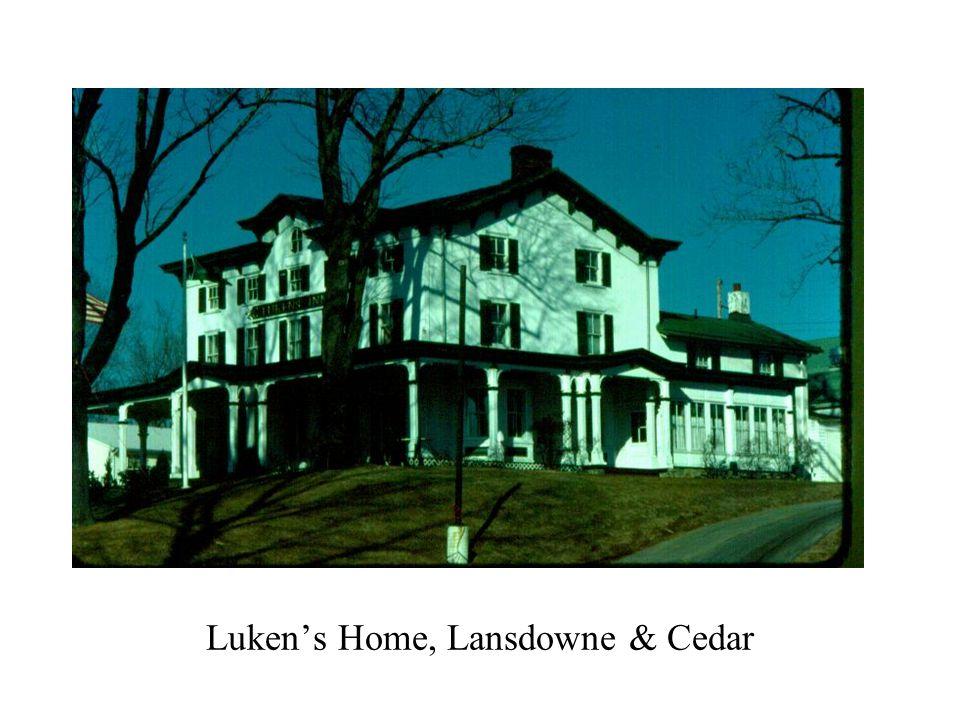 Luken's Home, Lansdowne & Cedar