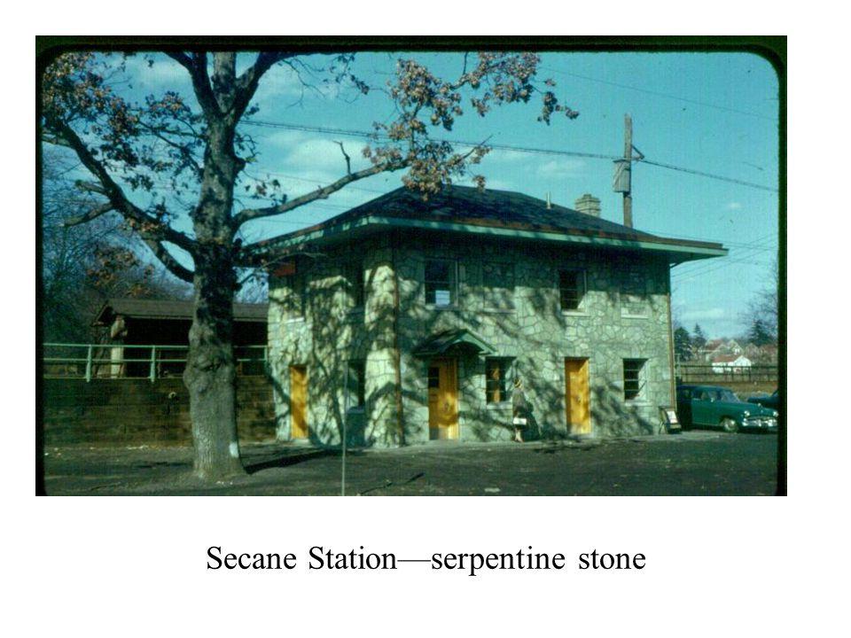 Secane Station—serpentine stone
