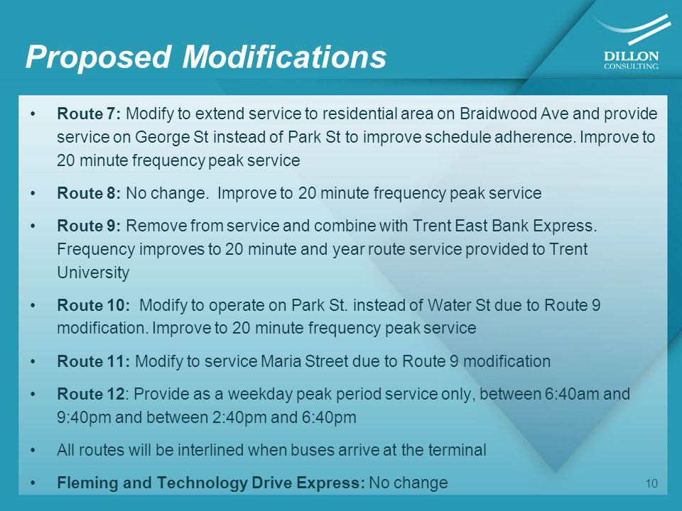 Changes to Route Structure 11