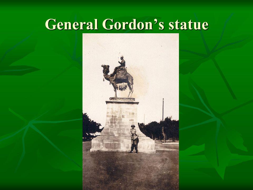 General Gordon's statue