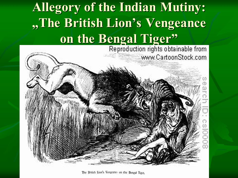 "Allegory of the Indian Mutiny: ""The British Lion's Vengeance on the Bengal Tiger"