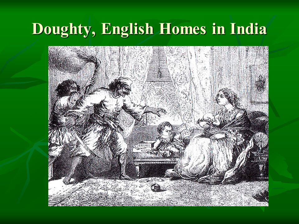 Doughty, English Homes in India