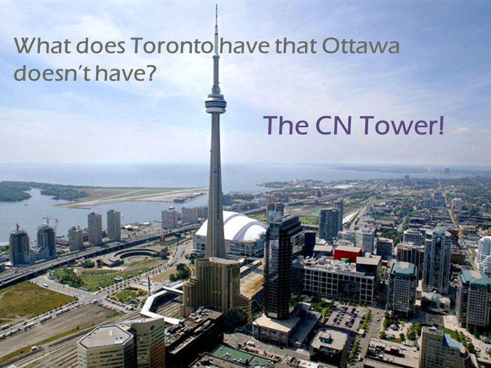It's a huge tourism attraction and one glimpse of it immediately identifies the city- scape as Toronto's.