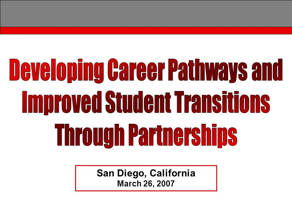 College and Career Transitions Initiative Public Safety Career Pathways