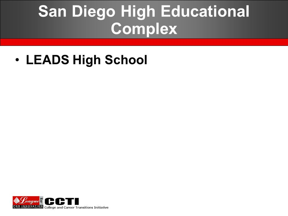San Diego High Educational Complex LEADS High School