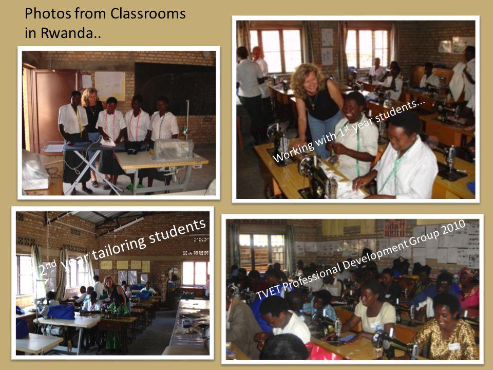 Photos from Classrooms in Rwanda..