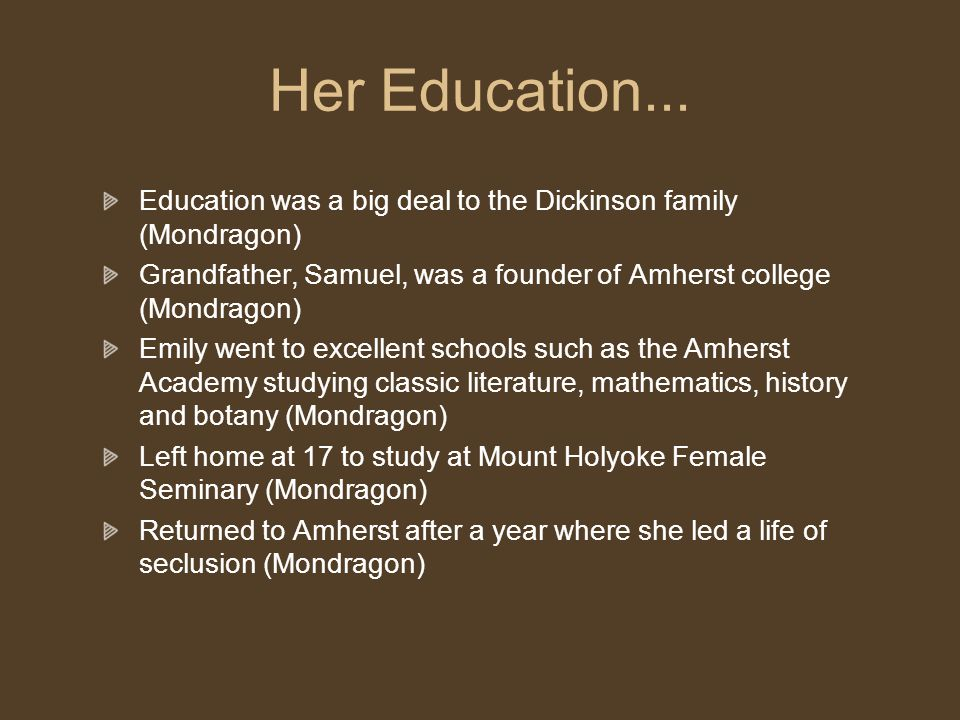 Her Education...