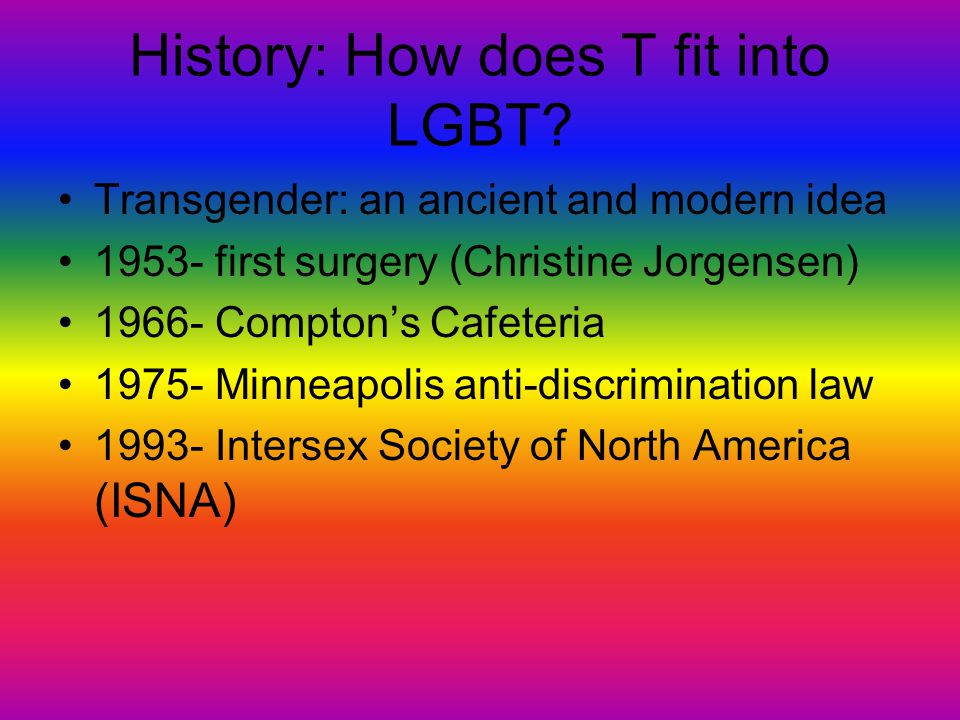What It Means To Be Transgendered Transgender vs. Transsexual Defies gender binary Gender neutral pronouns (Sie, Hir)