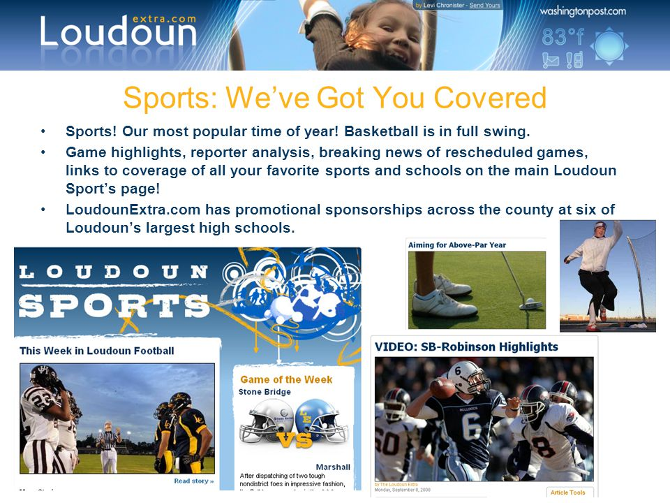 Sports: We've Got You Covered Sports! Our most popular time of year! Basketball is in full swing. Game highlights, reporter analysis, breaking news of