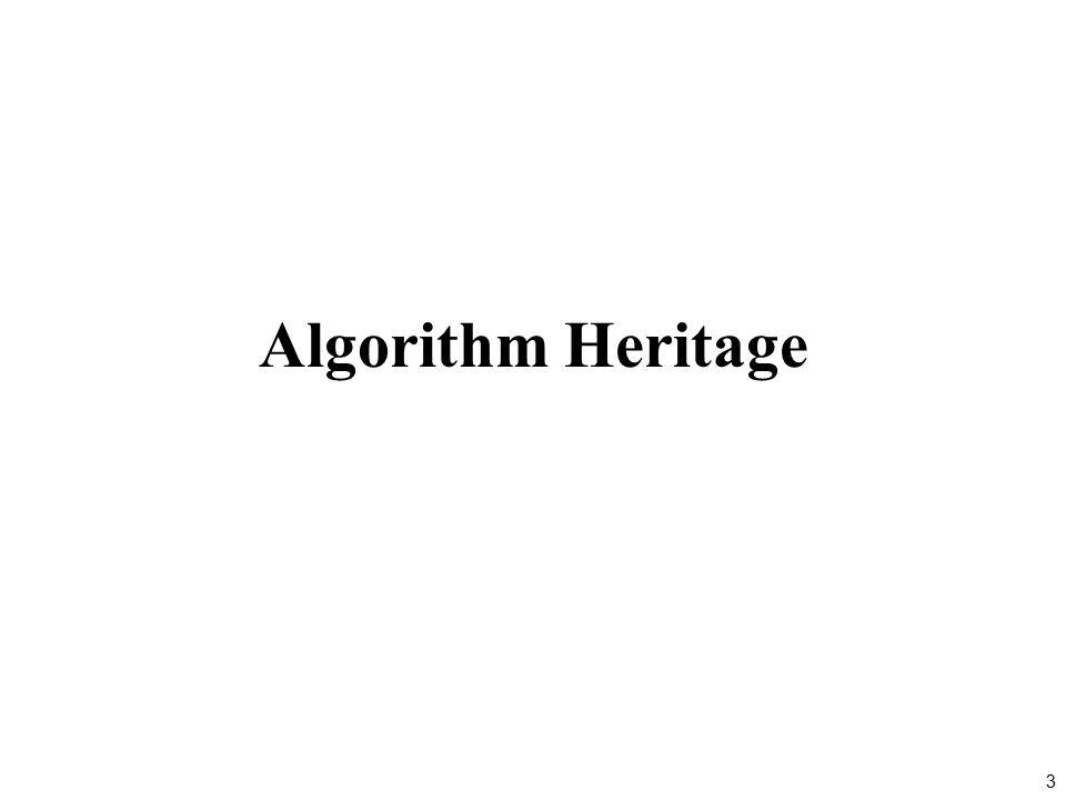 3 Algorithm Heritage