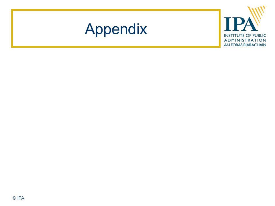 Appendix © IPA