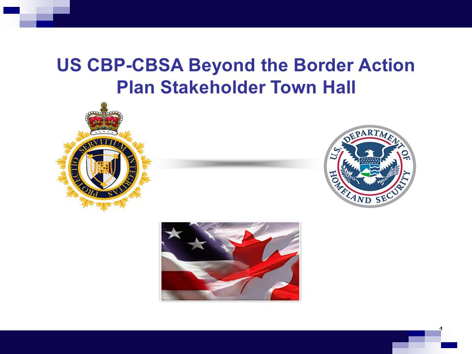 CBSA Project Critical Path High-level Timelines/Linkages  Deployment of RFID technology at 9 of the 11 select crossings will be aligned with the strengthened entry document requirements:  Ambassador Bridge (Windsor, ON);  Blue Water Bridge (Sarnia, ON);  Cornwall (Cornwall, ON);  Douglas (Surrey, BC);  Emerson (Emerson, MB);  Fort Erie – Peace Bridge (Fort Erie, ON);  Lacolle (St-Bernard-de-Lacolle, Que);  Pacific Highway (Surrey, BC);  Queenston Bridge (Niagara, ON);  Rainbow Bridge (Niagara, ON); and  Windsor – Detroit Tunnel (Windsor, ON)  Installation of RFID technology at the two remaining ports of entry at Cornwall, Ontario and Lacolle, Quebec, will be dependent on construction schedules for these separate Beyond the Border Action Plan initiatives.