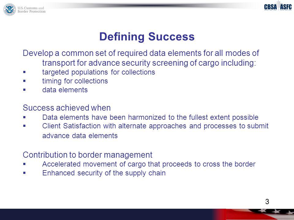 CBSA Project Critical Path (cont'd) Metrics/Performance Measurement  Progress towards establishing RFID lanes at all identified crossings.