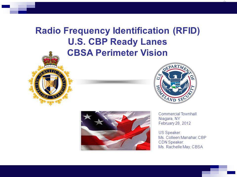 Radio Frequency Identification (RFID) U.S.