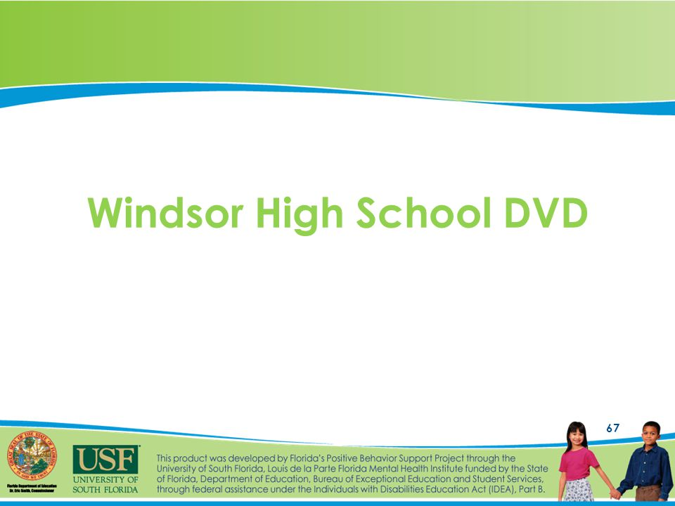 67 Windsor High School DVD