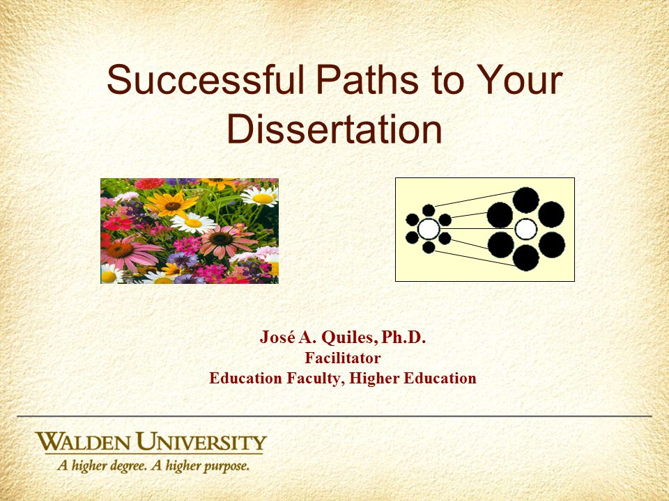 Successful Paths to Your Dissertation José A.Quiles, Ph.D.