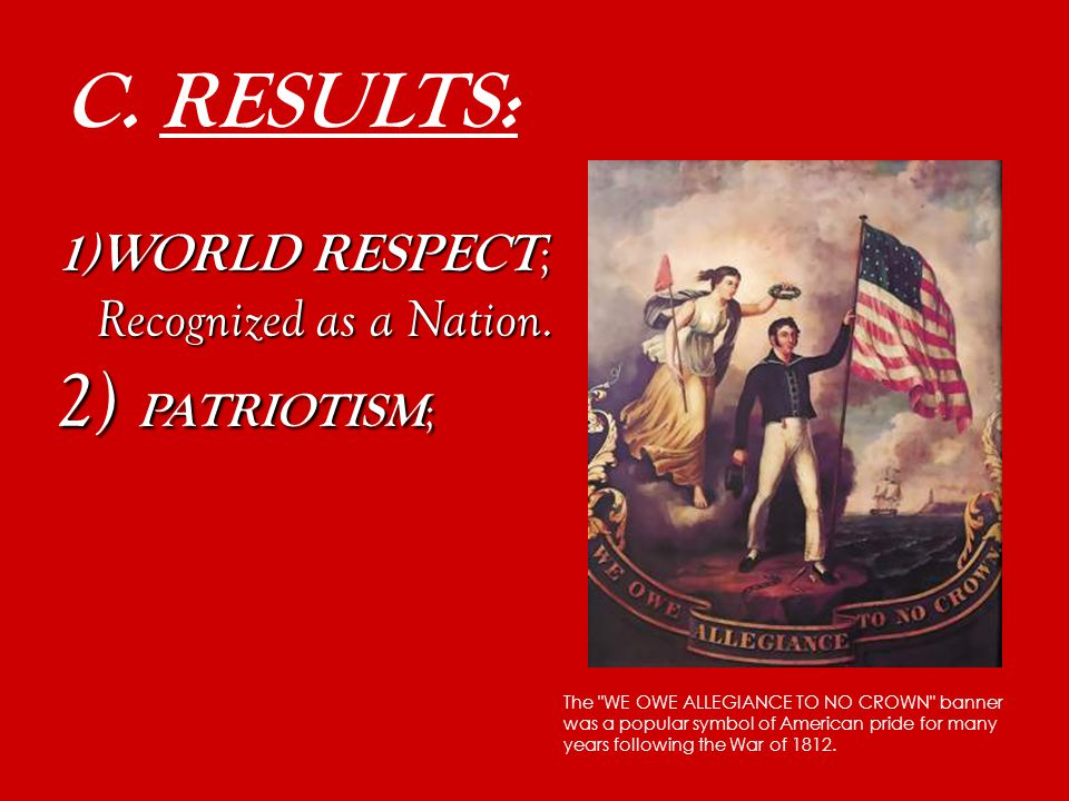 C. RESULTS: 1) WORLD RESPECT ; Recognized as a Nation. Aretha Franklin – R E S P E C T