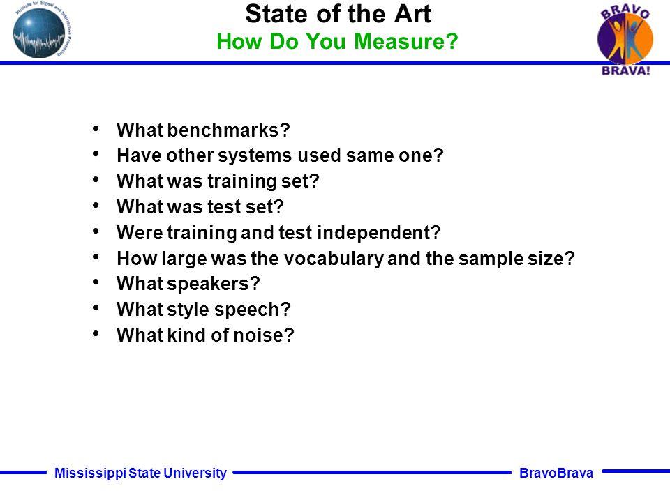 BravoBrava Mississippi State University State of the Art How Do You Measure.