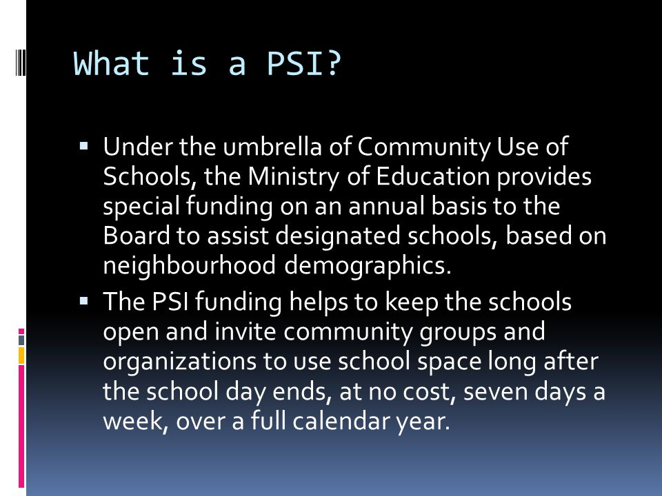 What is a PSI.