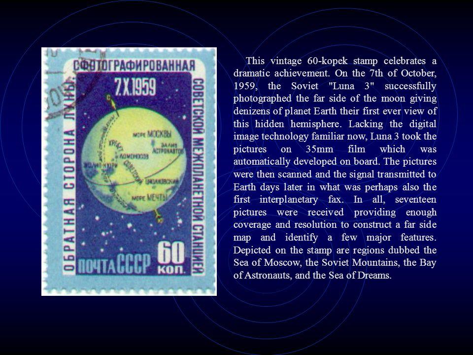 This vintage 60-kopek stamp celebrates a dramatic achievement.