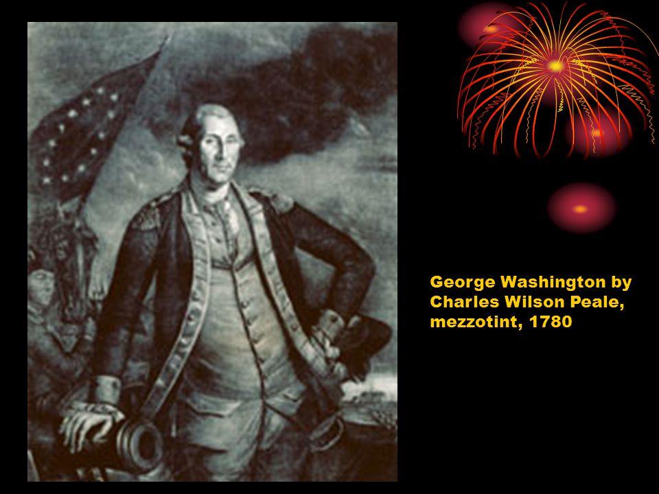 George Washington by Charles Wilson Peale, mezzotint, 1780