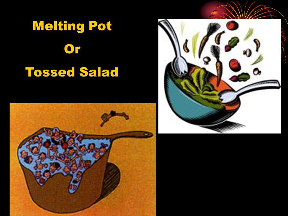 Melting Pot Or Tossed Salad