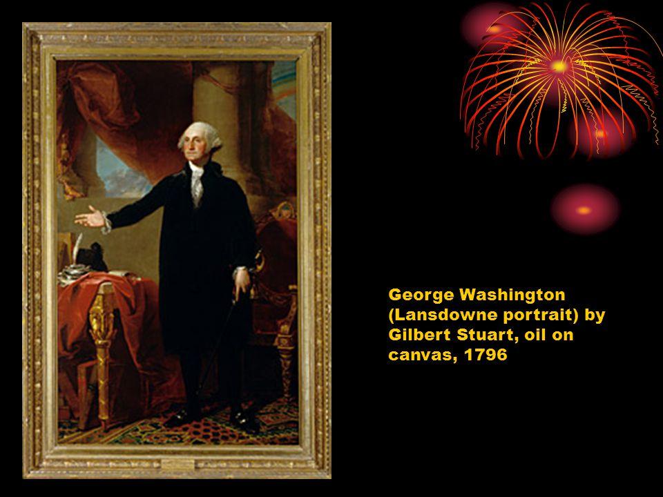 George Washington (Lansdowne portrait) by Gilbert Stuart, oil on canvas, 1796