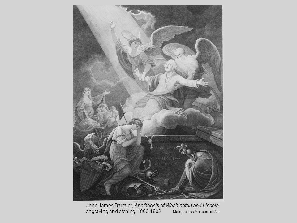 John James Barralet, Apotheosis of Washington and Lincoln engraving and etching, 1800-1802 Metropolitan Museum of Art