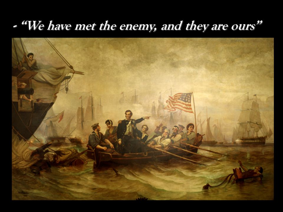 - Oliver Hazard Perry; Breaks British Blockade - Oliver Hazard Perry; Breaks British Blockade When the Lawrence was bombarded by three British ships, Perry rowed ½ mile to the Niagara where he continued fighting!!!