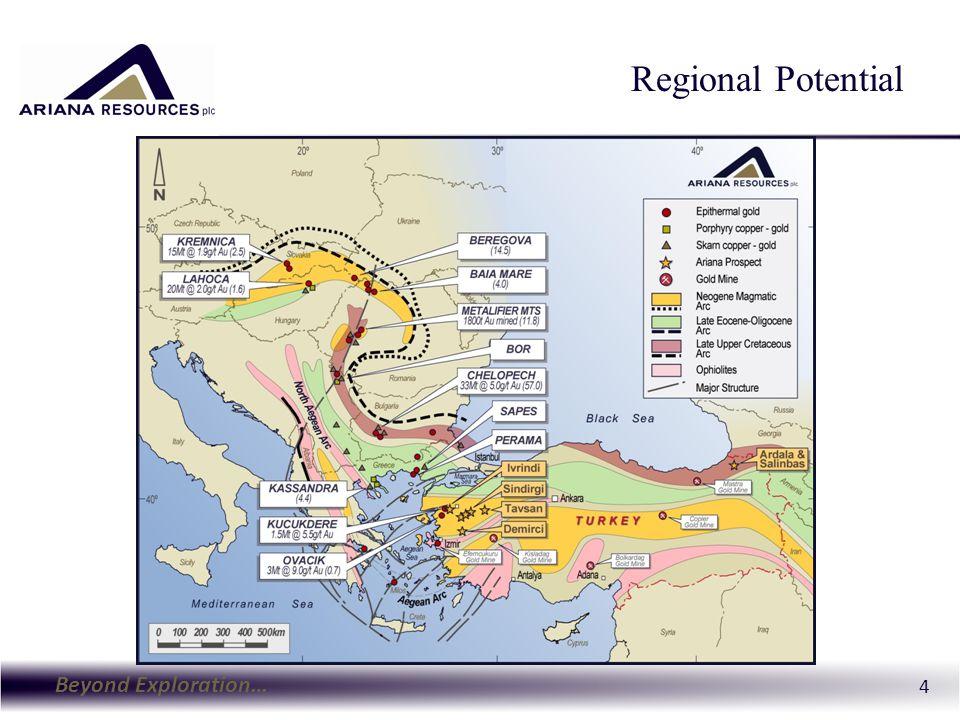 Beyond Exploration… 4 Regional Potential