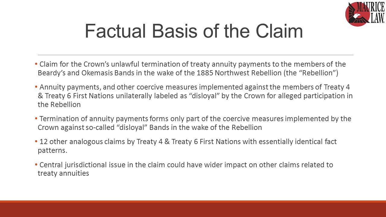 Expert Reports Thorough expert reports are essential as Claimants will be put to strict proof of the historical basis of their claim At case management, the parties agreed that the Claimant would file three expert reports, and the Crown would file two Duel function of expert reports in this claim from Claimant perspective The Crown's strategic change In this claim (and others) Crown used reply expert reports as sole means of introducing documentary evidence