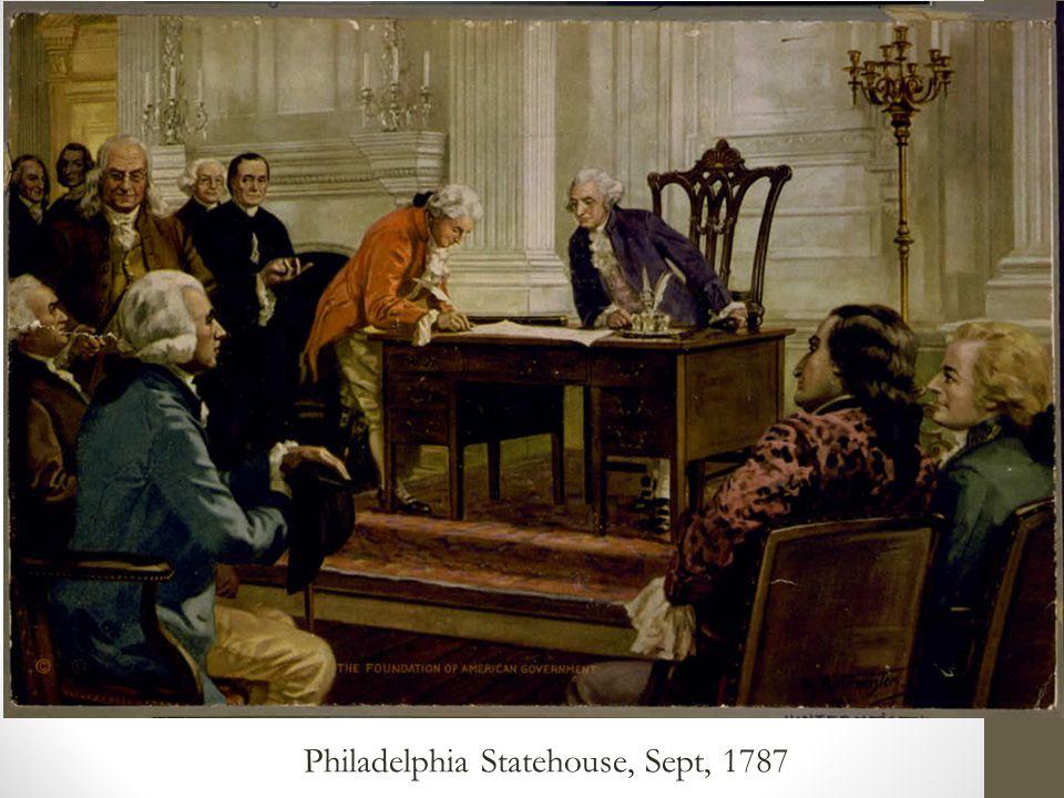 Philadelphia Statehouse, Sept, 1787